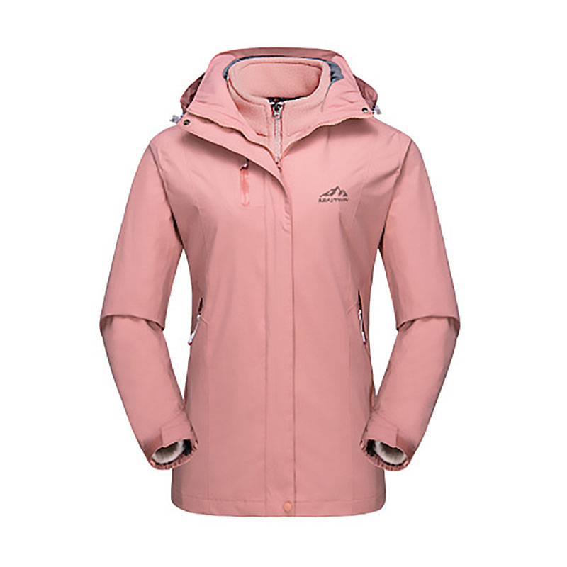 Women Outdoor Three-in-one Two-piece Coat Windproof Waterproof Breathable Hiking Winter Skiing Clothing LB