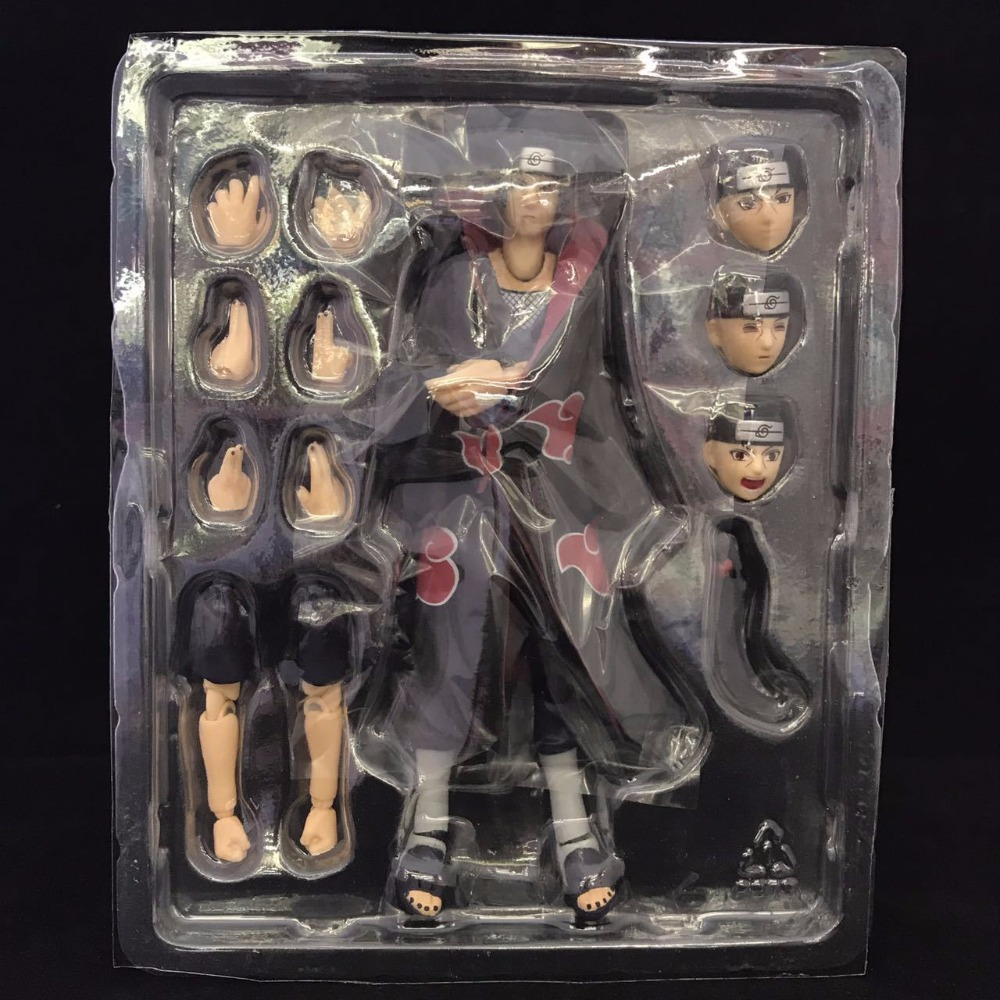 14cm SHF Figuarts Anime Naruto Itachi Uchiha Naruto Shippuden S.H.F PVC Action Figure Model shfiguarts naruto uchiha itachi moloing and movable pvc action figure collectible model toy 16cm