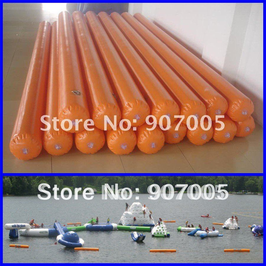 WG15 16pcs 4mL Dia 30cm  Inflatable water game / park pipe / roller Inflatable water tube Inflatable buoy    Factory Price water ski tube flying sofa inflatable water ski tube crazy ufo inflatable crazy water game crazy ufo