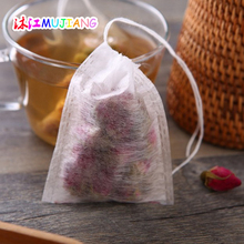 500pcs/lot Corn Fiber Empty Tea bags Teabags food grade PLA Biodegraded Tea Filters