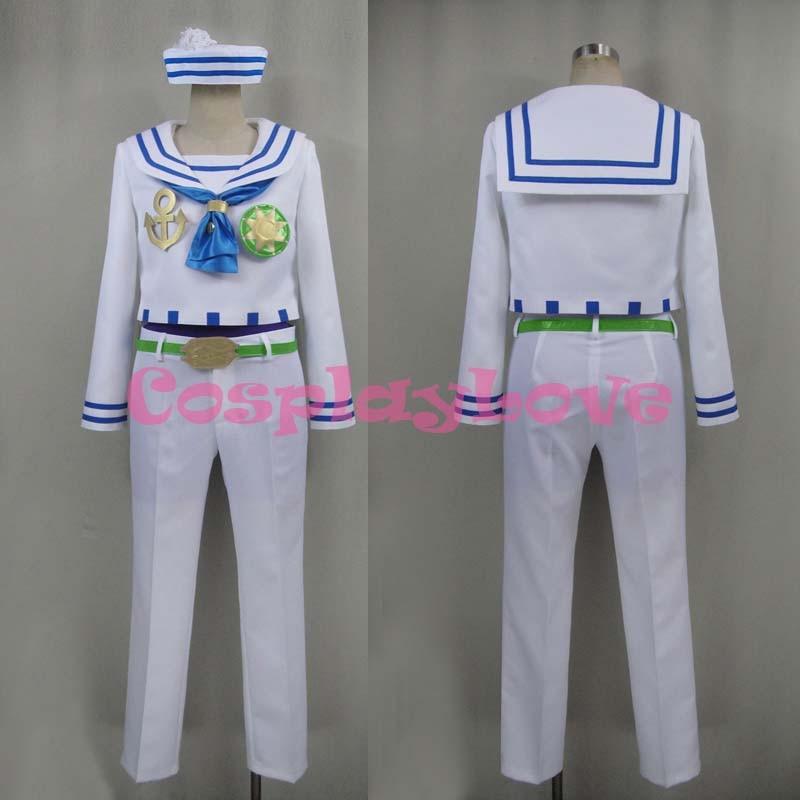 Newest Custom Made Japanese Anime JoJo's Bizarre Adventure: Diamond Is Unbreakable Josuke Higashikata Cosplay Costume