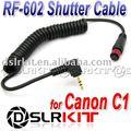 YONGNUO YN-126 Cable Remoto RF-602 para CANON 650D 600D 550D 500D 450D T2i T3i T4i