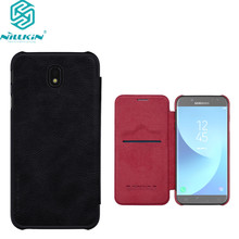 Для Samsung Galaxy J5 2017 чехол Nillkin Qin Series кожаный чехол для Galaxy J5 Pro j530 (5.2 дюймов) флип задняя крышка