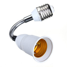Hot sale E27 to E27 20CM Length Flexible Extend Extension LED Light Bulb Lamp Holder Screw