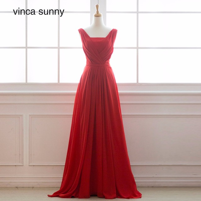 Vinca sunny Sexy V Neck Lace Long Prom Dresses 2018 V-neck Sleeveelss Floor  Length Formal Evening Party Gowns Lace-up Back 39c525cb9415