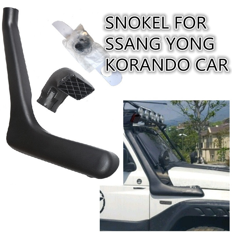 CITYCARAUTO AUTO SNOKEL KIT Air Intake LLDPE Snorkel Kit FIT FOR SSANG YONG KORANDO CAR 1998+ citycarauto 2007 2011 airflow snokel fit for jeep wrangler jk series 3 8l v6 air ram intake snorkel kit black