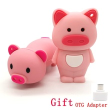 100% Real Capacity U Disk Pen Drive Minnie Pink Pig Cute Model 64G 32G 16G 8GB 4G Usb Flash Drive Memory Stick PenDrive