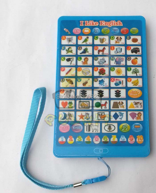 New Mini English ABC 123 Teaching Machines Children Computer Learning Machine Kid Ipad Touch
