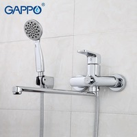 GAPPO 1SET TOP Quality Wall Mount Bathroom Sink Faucet Torneira With Long Spout Single Handle Bathtub