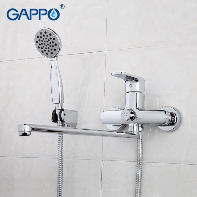 GAPPO Bathtub Faucets bathroom faucet taps wall mount Brass bathtub ...