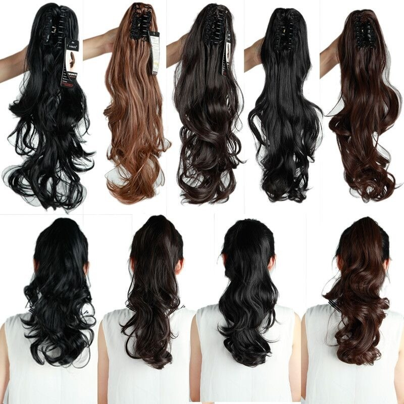 SNOILITE Syntetiska Kvinnor Kläm på Ponytail Clip i - Syntetiskt hår - Foto 5