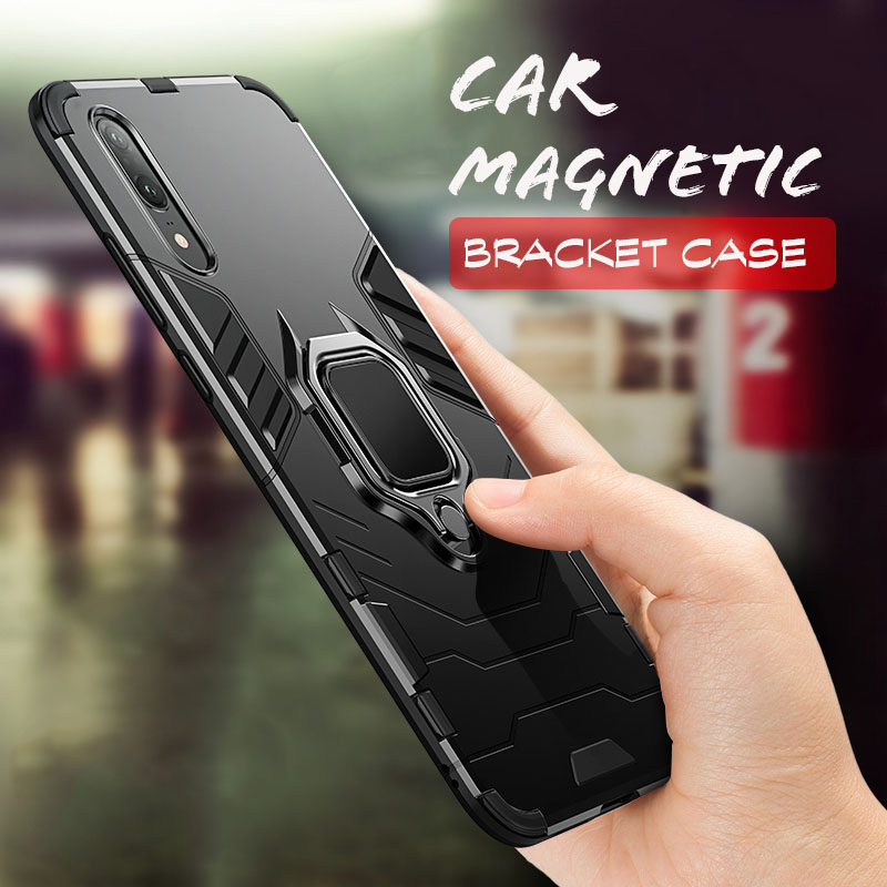 Telefon Magnetic Ring Phone Protective Cover For Huawei Mate 20 PRO 20X P20 Lite PC For Honor 8X 6X TPU Shockproof Case Cases