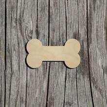 50 форма кость собаки 8 см необработанные без покраски лазерная