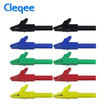 Cleqee P2007 10 шт. зажим аллигатора до 4 мм банан Женский Разъем тестовый адаптер