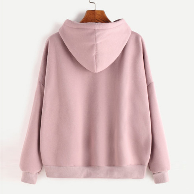19 Autumn Women Hoodie Casual Long Sleeve Hooded Pullover Sweatshirts Hooded Female Jumper Women Tracksuits Sportswear Clothes 6