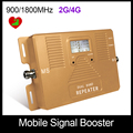 El envío gratuito! sólo repetidor de doble banda 2G 4G 900/1800 mhz teléfono celular amplificador de señal amplificador de calidad superior con pantalla LCD