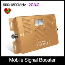 Бесплатная доставка! только ретранслятор dual band 2 Г 4 Г 900/1800 мГц сигнала сотового телефона booster высочайшее качество усилитель с ЖК-дисплей
