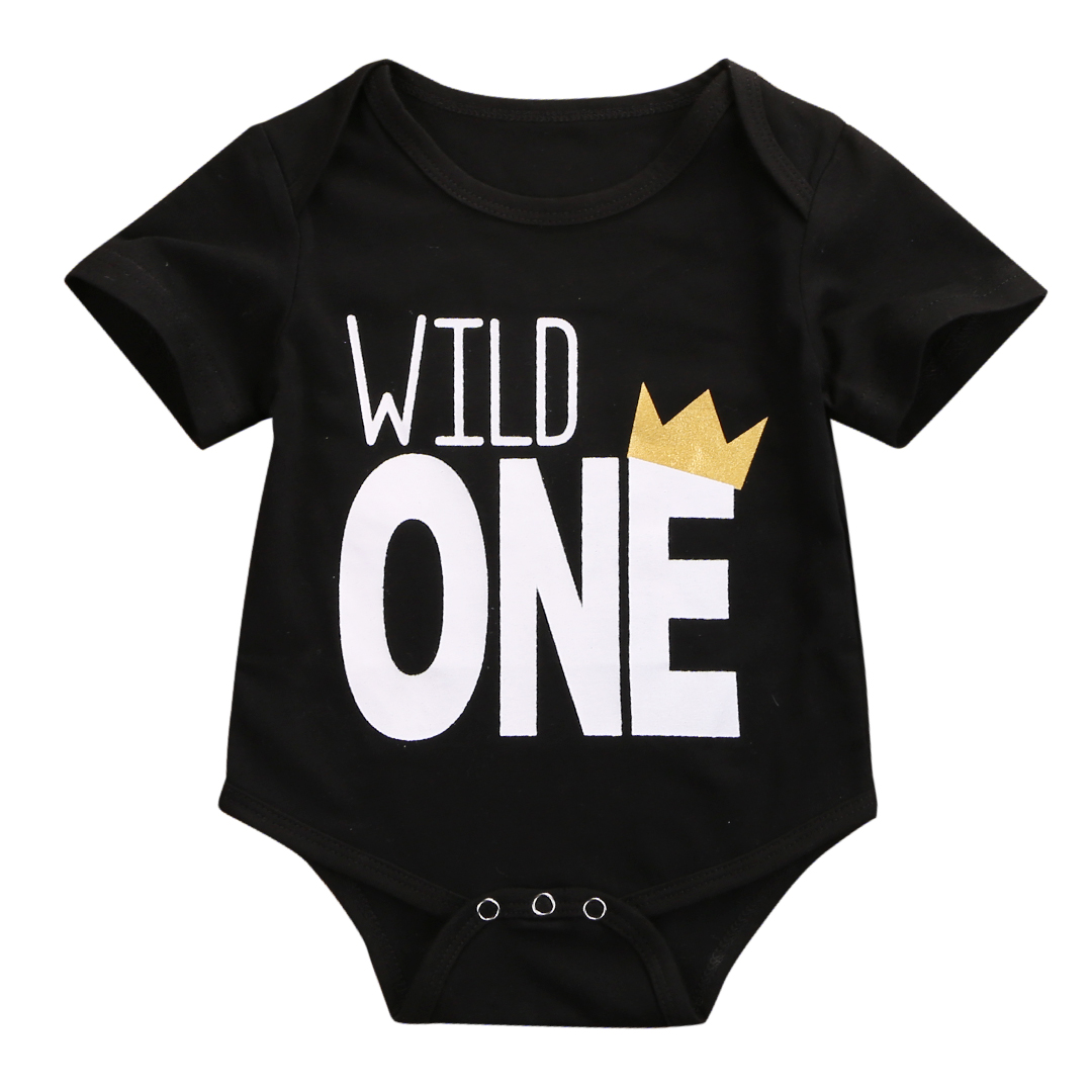 Babyone Baby Jogger Pudcoco One Year Birthday Bodysuit Baby One Piece Letter Print