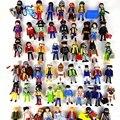 7.5 cm Playmobil figuras de juguete juego 2016 Nueva policía Playmobil pirata princesa caballo casa figuras de acción doll lote regalos para niños