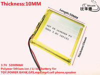 3 7V 5200mAh 115459 Lithium Polymer Li Po Li Ion Rechargeable Battery Cells For Mp3 MP4