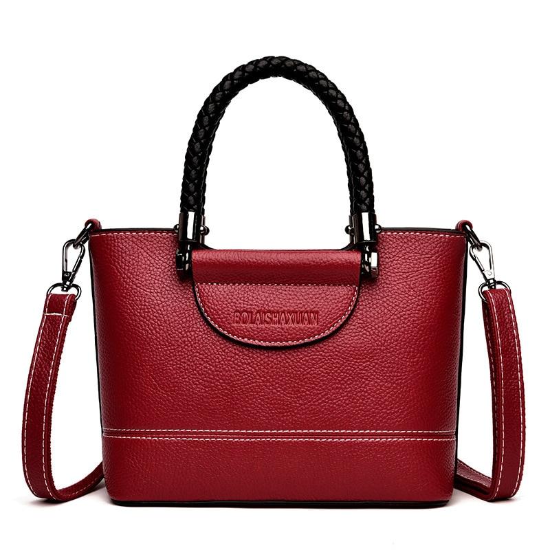 Chu JJ Genuine Leather Women's Handbags Small Cowhide Shoulder CrossBody Bags Lady Fashion Flap Women Messenger Bags Tote Bag