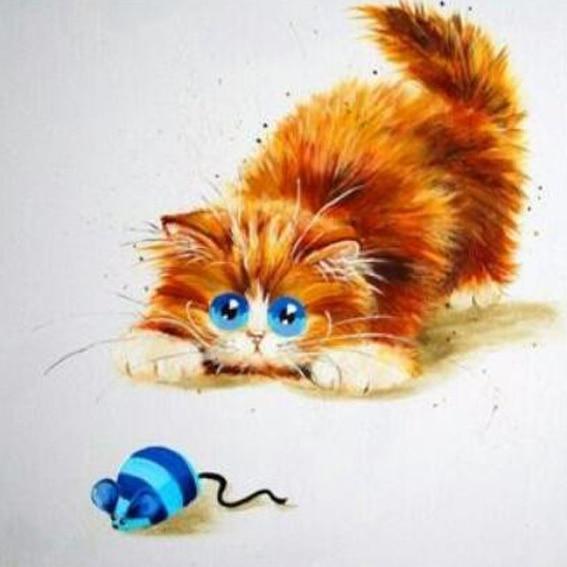 Вышивка желтые коты