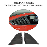 For Mustang 2PCS/Set Carbon Fiber FRP Rear Window Side Vents Grille for Ford Mustang Coupe 2 Door 2015 2017