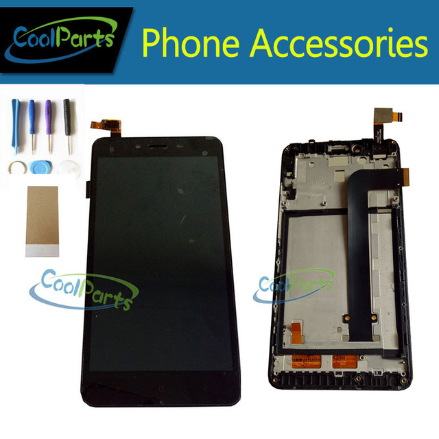 1PC/Lot For Xiaomi Redmi Note 2 Note2 5.5'' LCD Display Screen+Touch Screen Digitizer With Frame Replacement Part With Tool&Tape