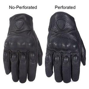 Image 3 - ROAOPP Retro Pursuit Real Leather Motorcycle Gloves Touch Screen Men Women Motocross Waterproof Electric Bike Gloves Moto Glove