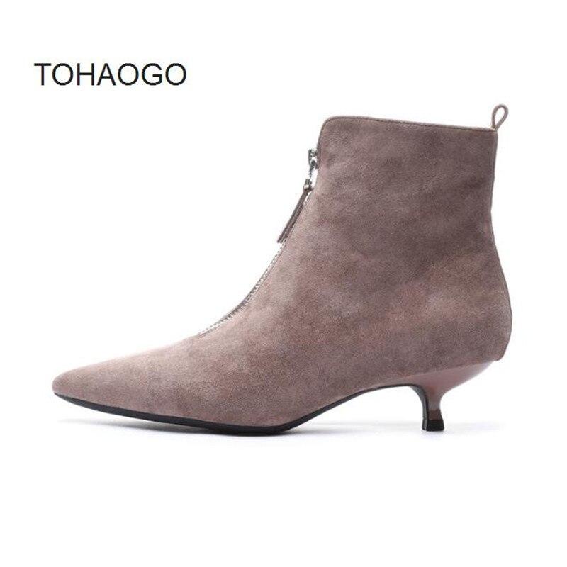 96888a5e 2019 Botas Zapatos Obuv Black Tacón Romano Mujeres Gris Bulbo ...