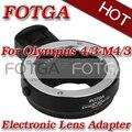 Fotga Металл Электронная Объектива Переходное Металлическое Кольцо для 4/3 Микро 4/3 E-P1 G1 GF1 + штатив адаптер