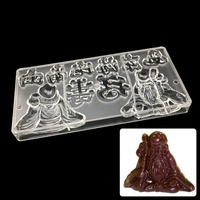 Chinese Culture Happy Birthday To Old Man Mold Polycarbonate Jelly Mould Hard Injection PC Candy Tray Pastry Baking Dish