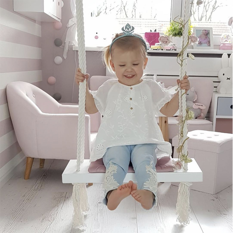 Baby Swing Chair Hanging Swings Set Children Toy Rocking Solid