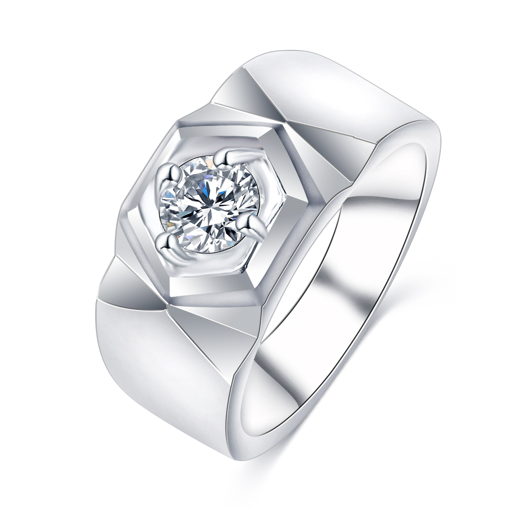 lzeshine cz crystal jewelry rings for men silver color beauty crystal wedding men ring cool party - Beautiful Wedding Ring