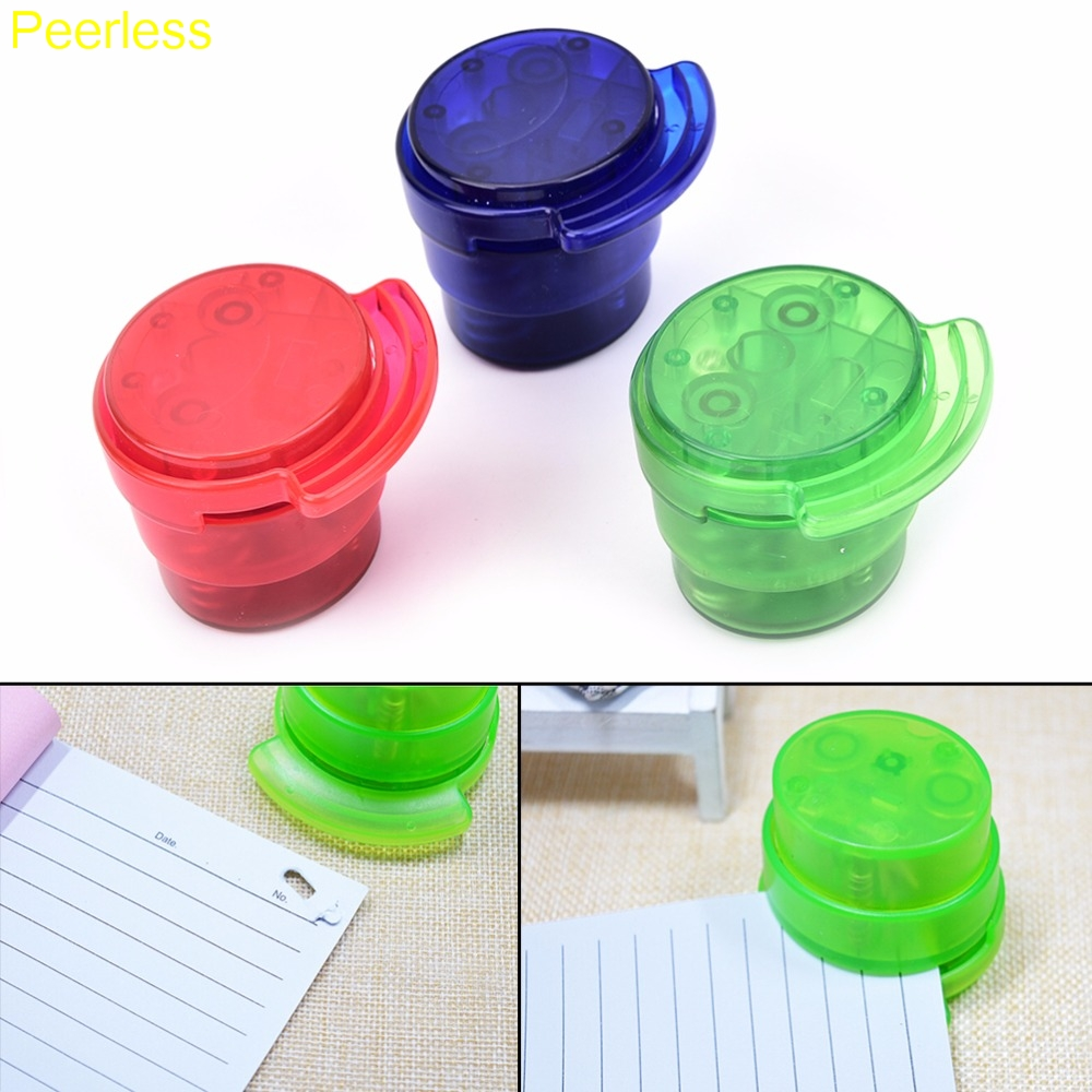 Alert Portable Stapleless Stapler Paper Binding Binder For Home Office School Hot Office Equipment & Supplies