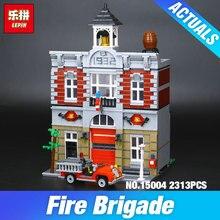 Lepin 15004 Modèle Poupée Maison Kits de Construction 2313 Pcs Blocs Ville Rue Feu de Brigade Éducation Compatible Avec 10197 Enfant jouet