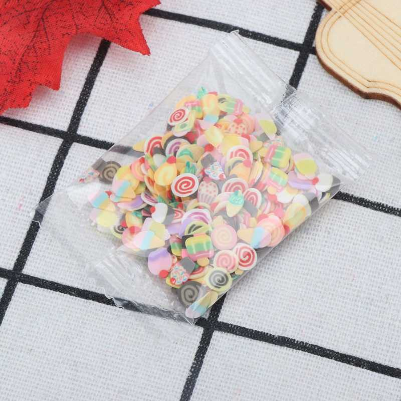 10 Styles Polymer Clay Toy DIY Slime Accessories Decor Jelly Mud Hand Gum Clay Chip