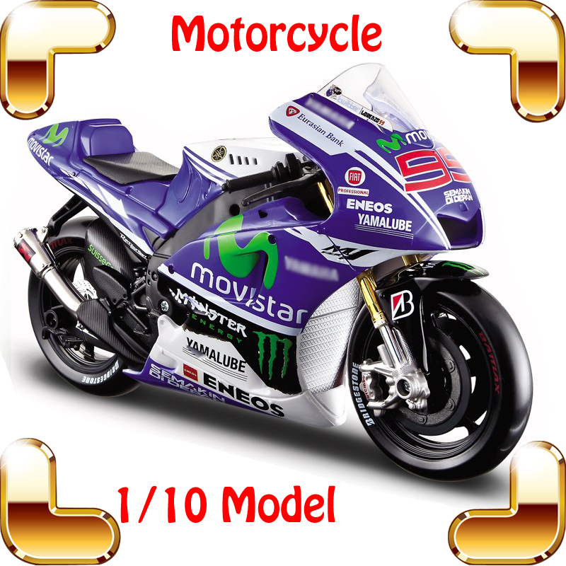 New Year Gift YMH 1/10 Model Motorcycle Collection Large Scale Vehicle Motor Car Nice Present Metallic Alloy Model Toys Diecast new year gift gallargo 1 18 large model metal car metallic scale simulation diecast alloy collection toys vehicle present