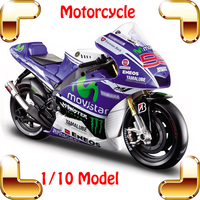New Year Gift YMH 1/10 Model Motorcycle Collection Large Scale Vehicle Motor Car Nice Present Metallic Alloy Model Toys Diecast