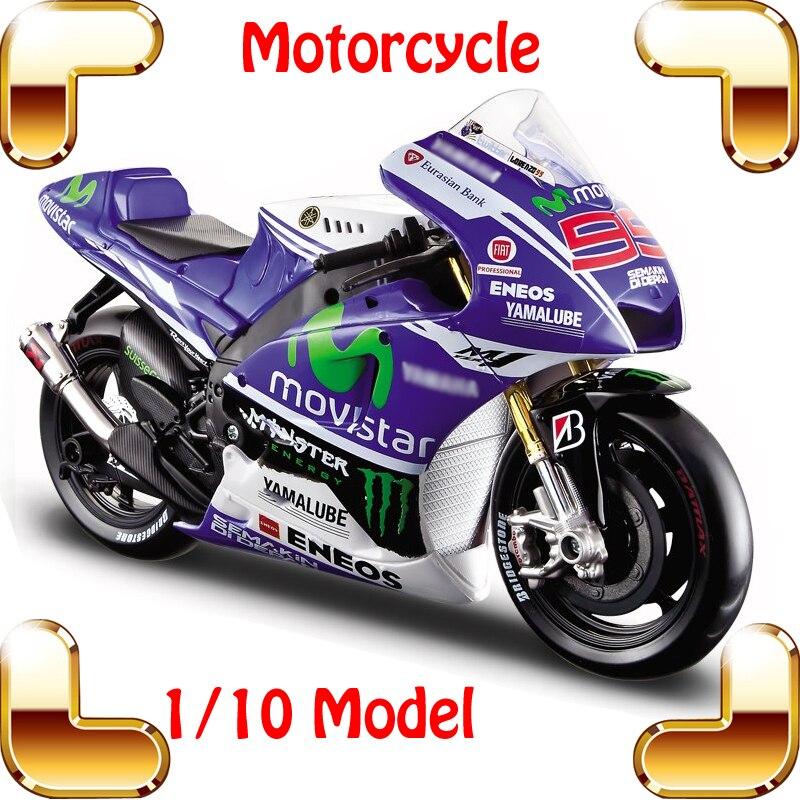 Nouvel an cadeau YMH 1/10 modèle moto Collection véhicule à grande échelle voiture belle présente alliage métallique modèle jouets moulé sous pression