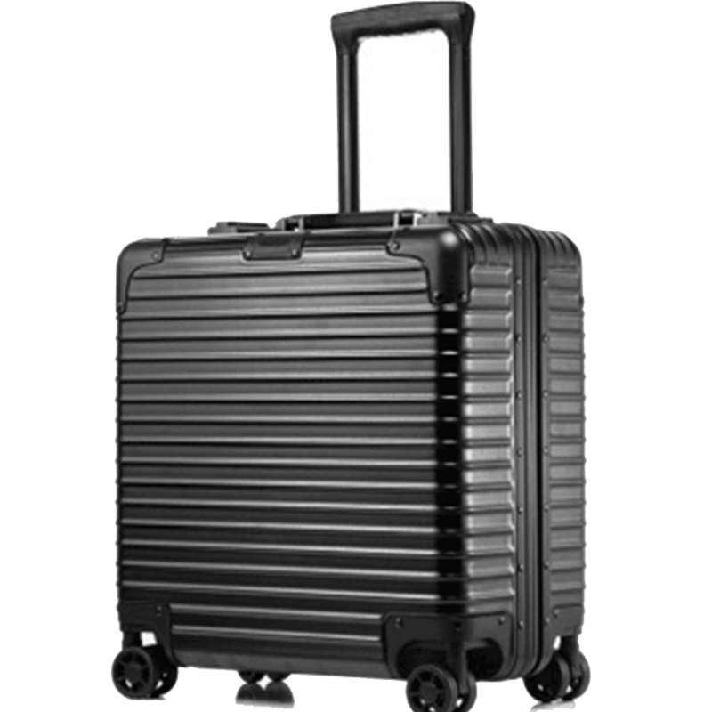 good quality 18 inches computer Trolley Case Business password boarding boxes casters luggage travel case
