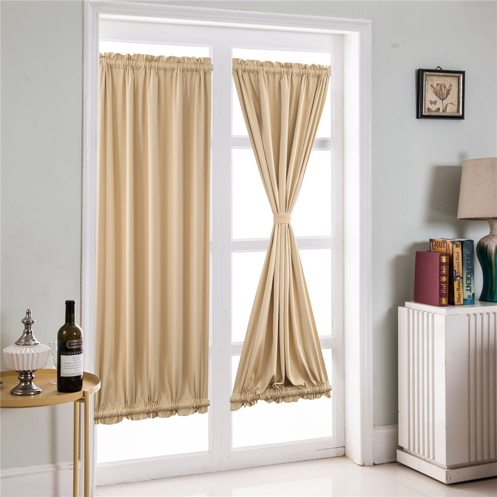 Door Privacy Curtain Us 3 18 47 Off Enipate 1 Pcs French Door Curtains Blackout Patio Door Glass Door Curtain Panel For Privacy 1 Panel Ployester Home Decoration In