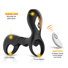 Wireless Remote Control Penis Ring Vibrator Cock Ring for Men Delay Stimulation Intimate Sex Toys for Couples Sex Products недорого