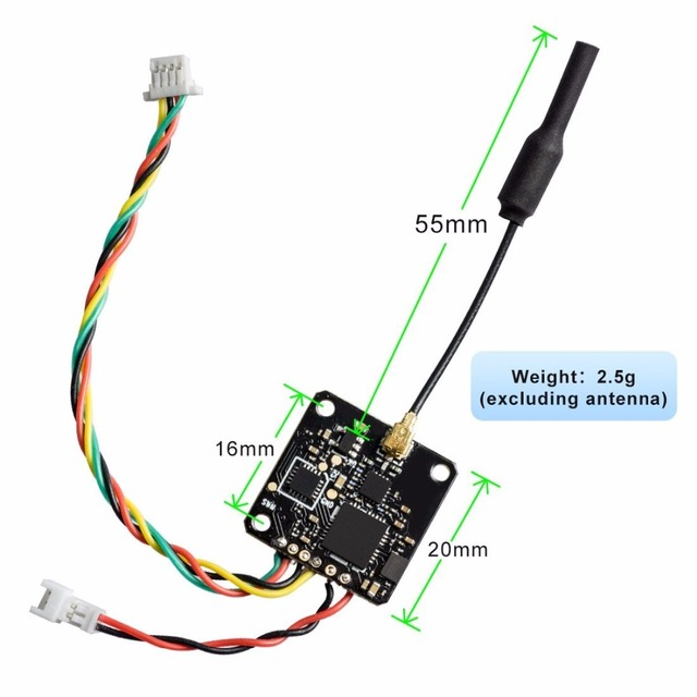 AKK X5 5.8G 40CH with IPEX Antenna Connector 25/50/100/200mW Switchable FPV Transmitter with FC Uart Support OSD Configuring