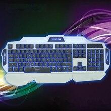 Профессиональный игровой клавиатуры LED механическая feel игры клавиатура эргономичный 104 ключ для игроков передовых компьютерных периферийных устройств