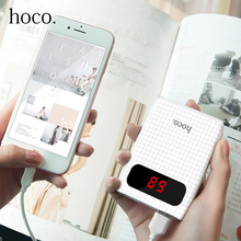 HOCO Power Bank 10000mah External Battery 18650 Portable Mobile Fast Dual USB Powerbank For iPhone 7 8 For Xiaomi Samsung Tablet