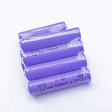 OOLAPR Purple  2X AAA 2000mAh OOLAPR 1.2 V Rechargeable Battery  NI-MH 1.2V Rechargeable 3A Battery Free Shipping