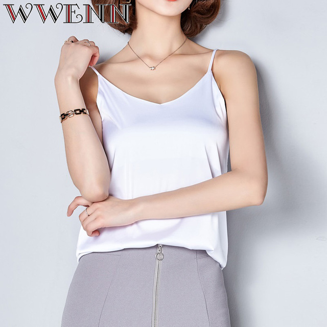 High Quality Spring Summer Casual 7 Colors Shirt Sleeveless Blouse Women Blusas 5
