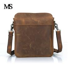 Business Men Genuine Leather Bag Natural Cowskin Men Messenger Bags Vintage Men's Cowhide Shoulder Crossbody Bag TW2004 все цены