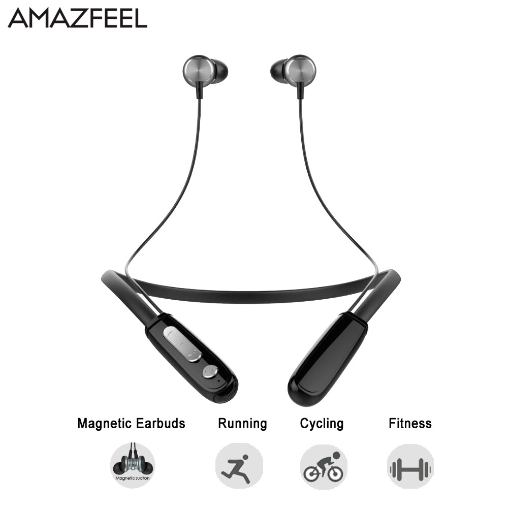 AMAZFEEL J11 IPX4-rated Sport Bluetooth Earphone for Phone Wireless Bluetooth Headset with Mic Wireless Earphones